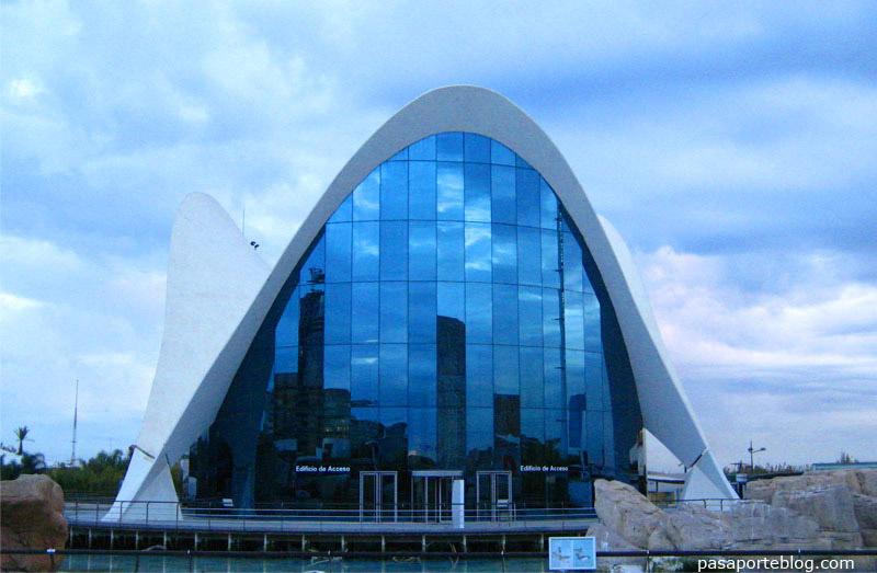 Edifici central de l'Oceanogràfic, Ciutat de les Arts i les Ciències de Valéncia