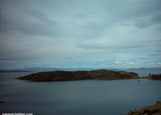 Andes i llac Titicaca