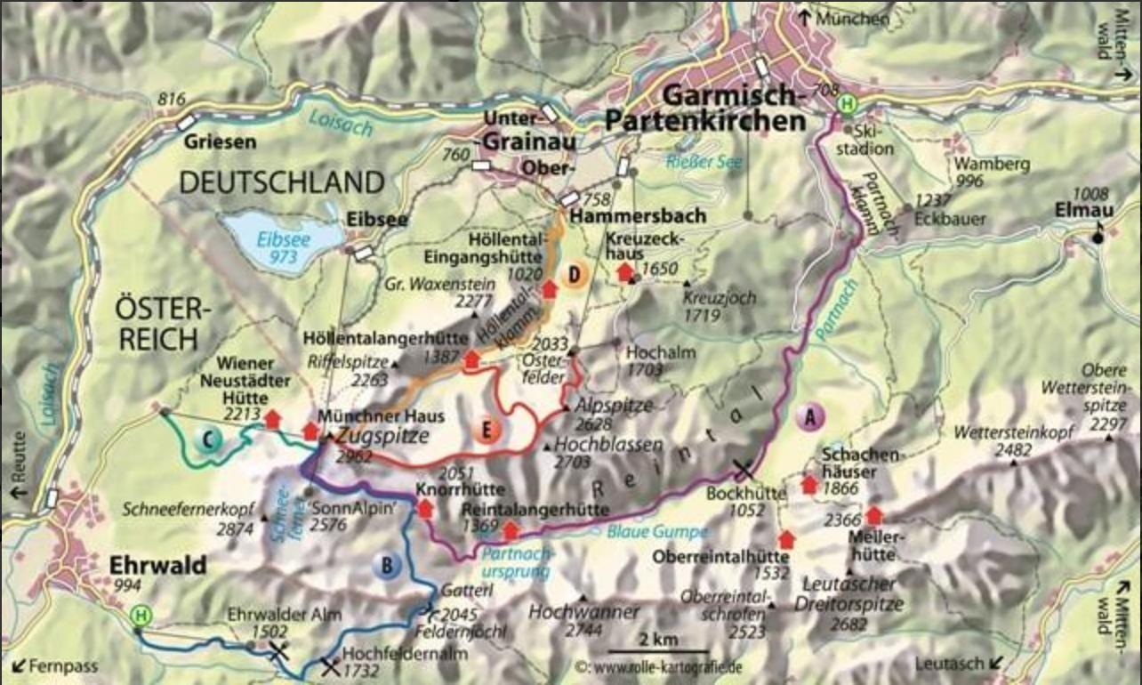 Rutes cap a la Zugspitze